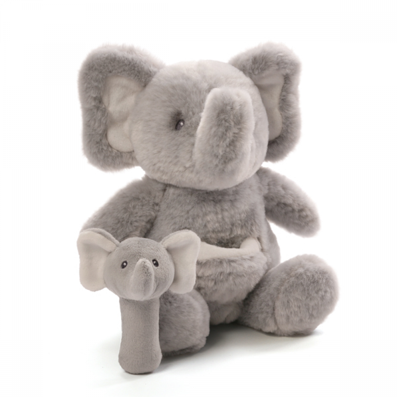 Momma Elephant and Rattle Set