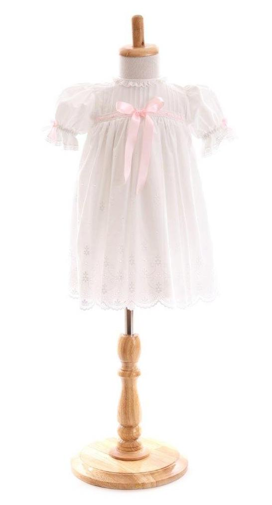 Bonney White Cotton Broderie Anglaise Frock
