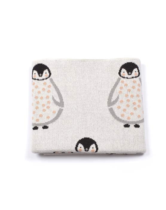 Penguin Baby Blanket Peach