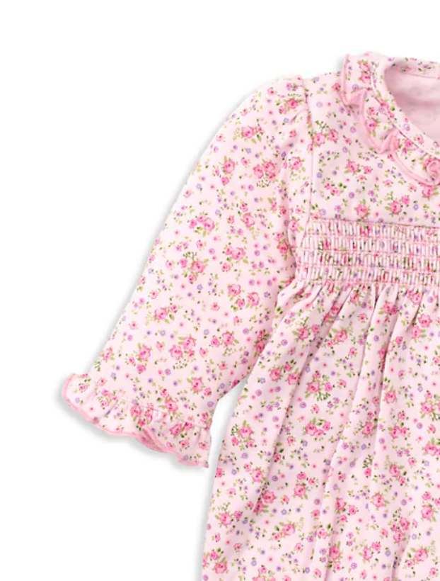 Dusty Floral Smocked Footie