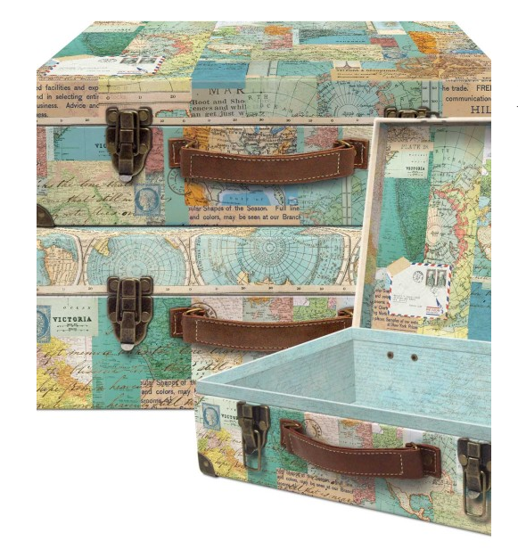 World Atlas Nesting Valet Case Set