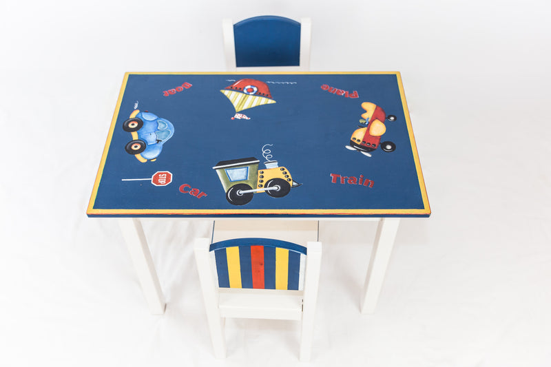 Boy's Table & Chairs Set
