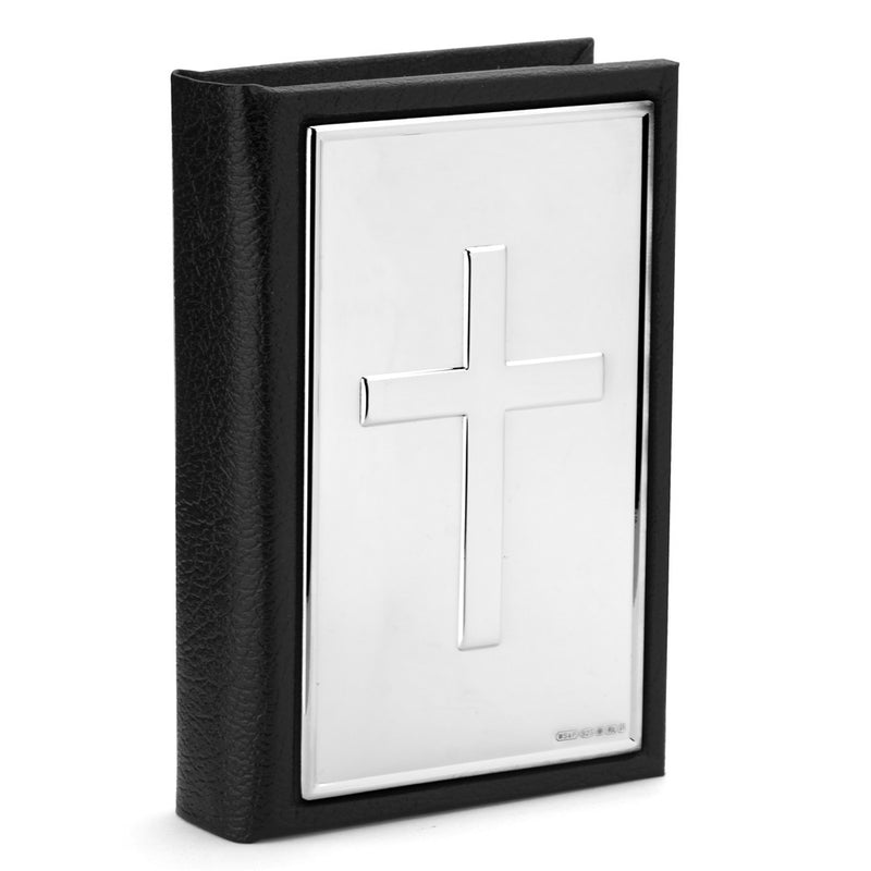 Leather Bible Case w/ Sterling Silver Cross