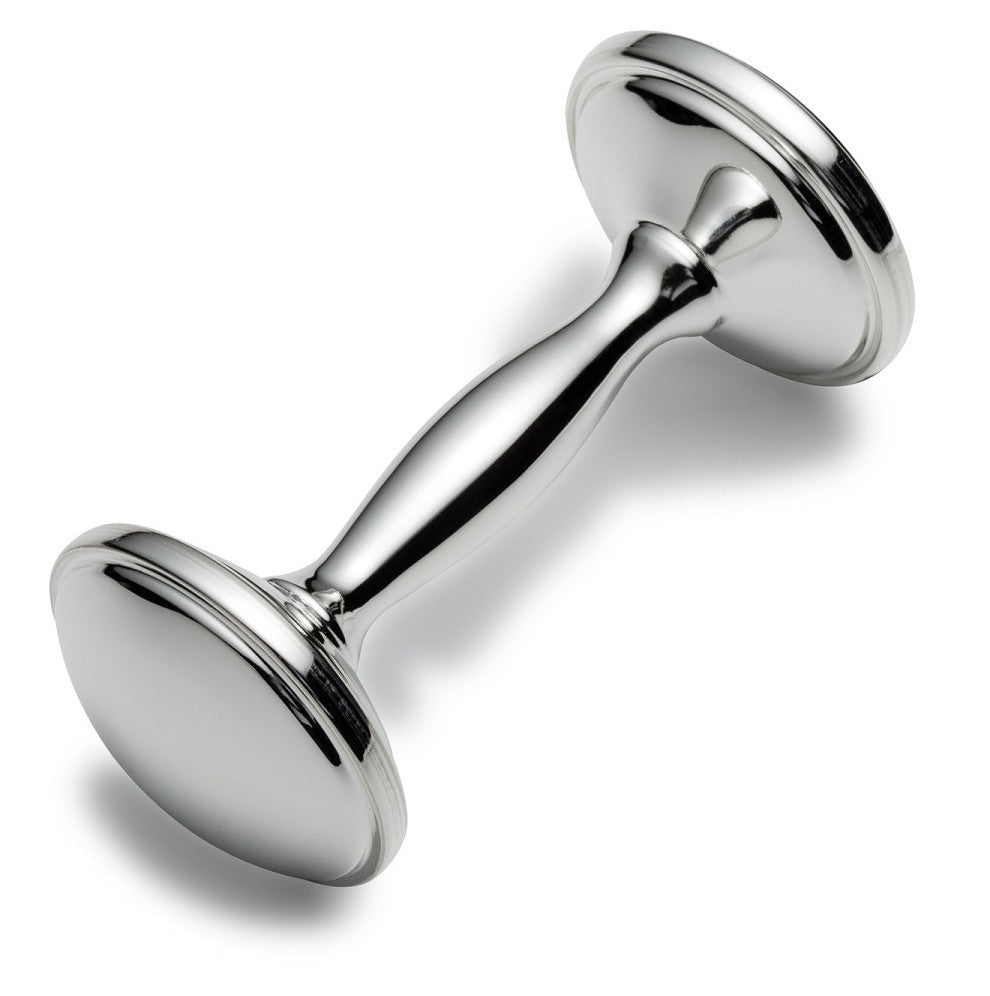 Dumbbell Silver Rattle
