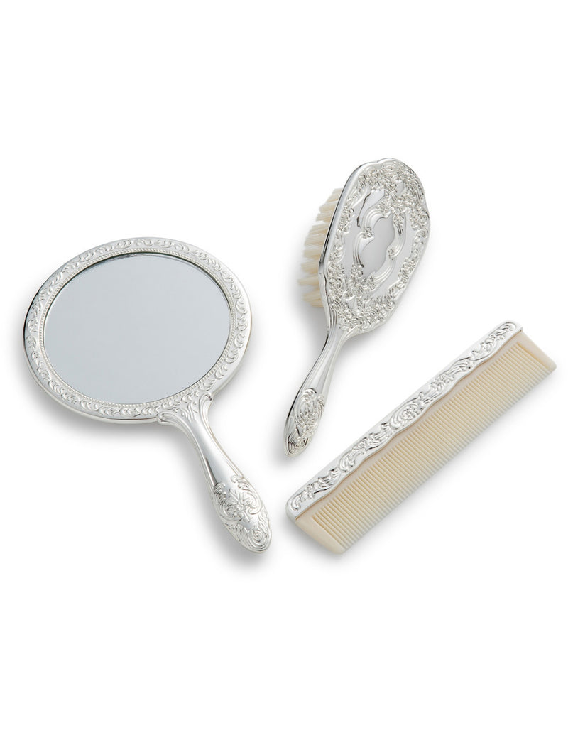 Silver Motif Brush Set