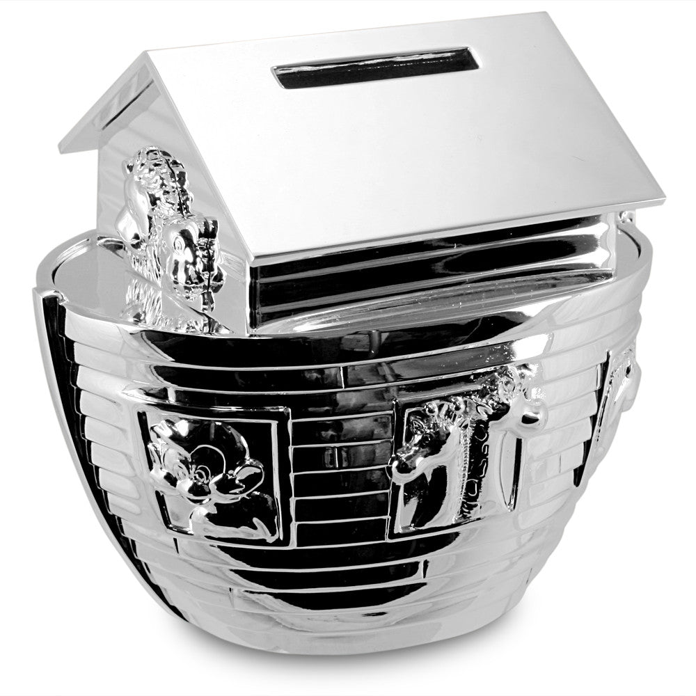 Noah's Ark Silver Money Box