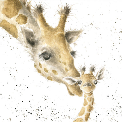 First Kiss Giraffes Card