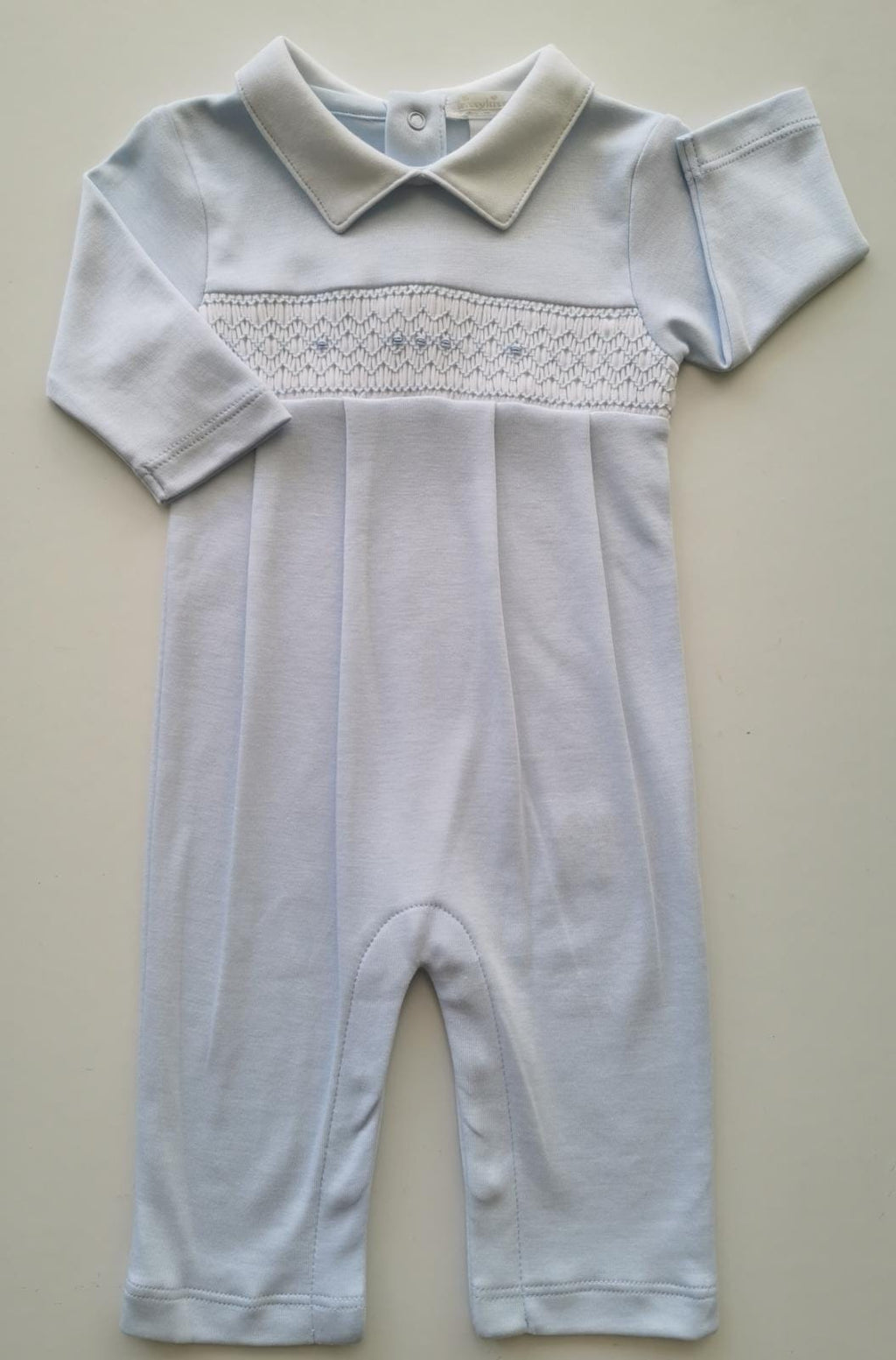 Smock Blue Playsuit