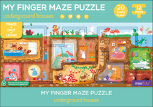 Load image into Gallery viewer, Underground Houses Finger Maze Puzzle