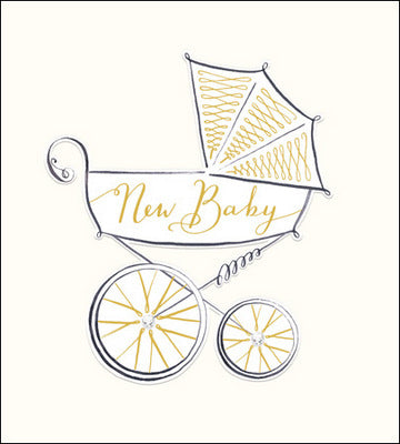 New Baby Carriage Card
