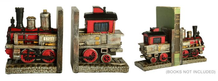 Steam Train Bookends