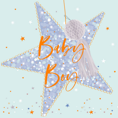 Baby Boy Star Card