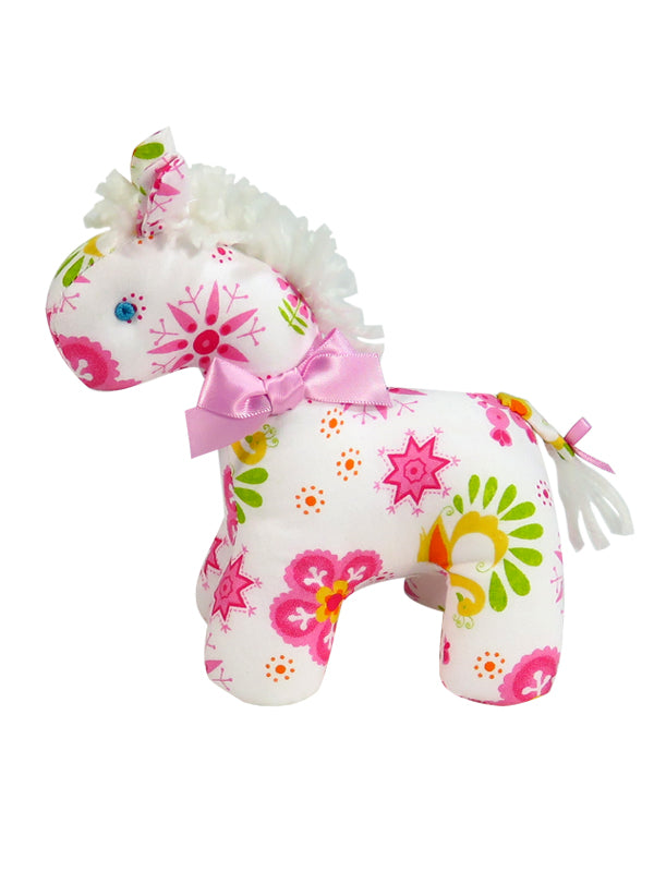 Mini Snowflake Horse Rattle