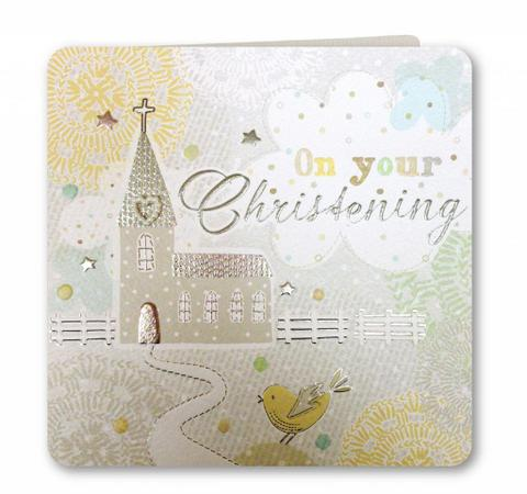 On Your Christening Card