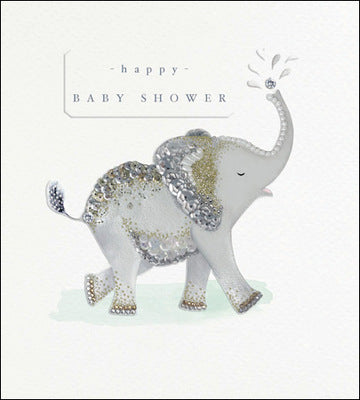 Happy Baby Shower Foil Elephant