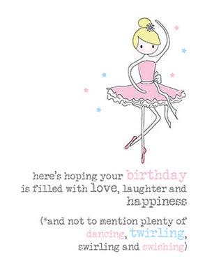 Birthday Ballerina Card