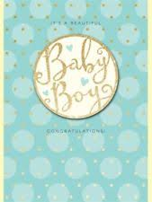 It's a Beautiful Baby Boy Congratulations Card