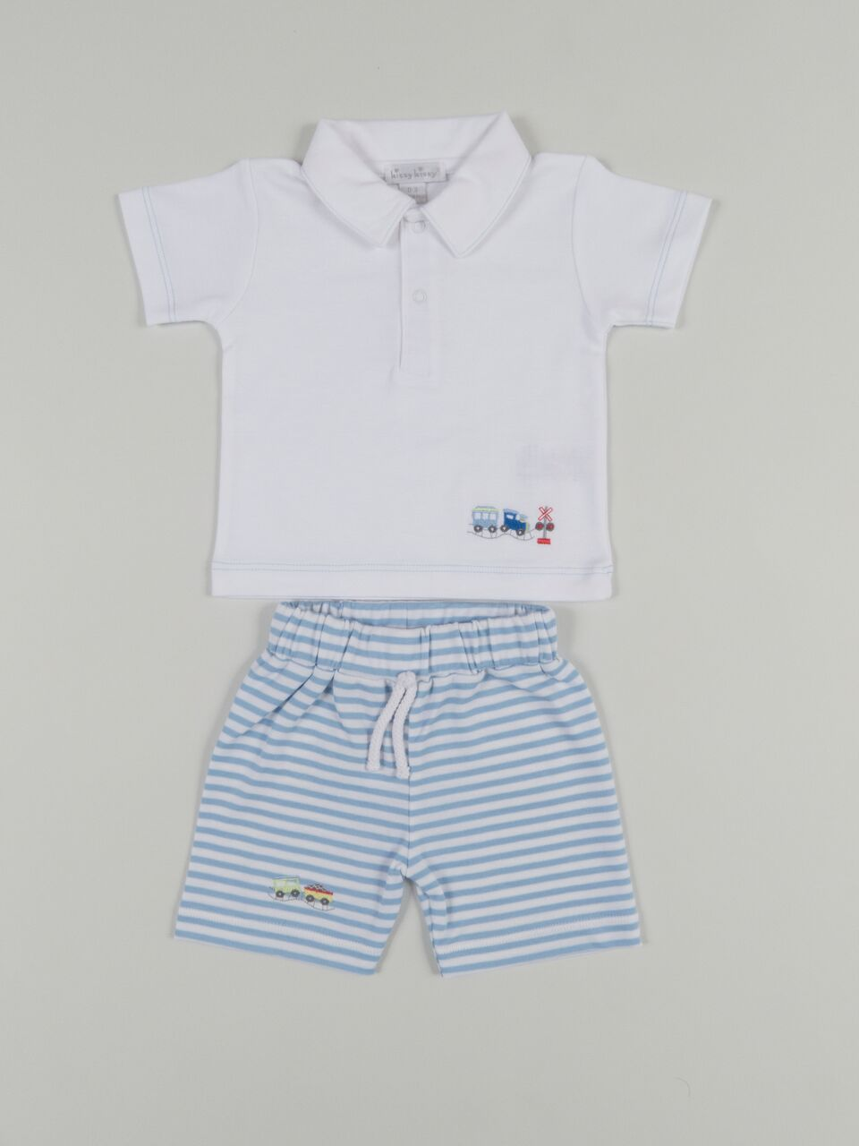 Embroidered Train Bermuda Set