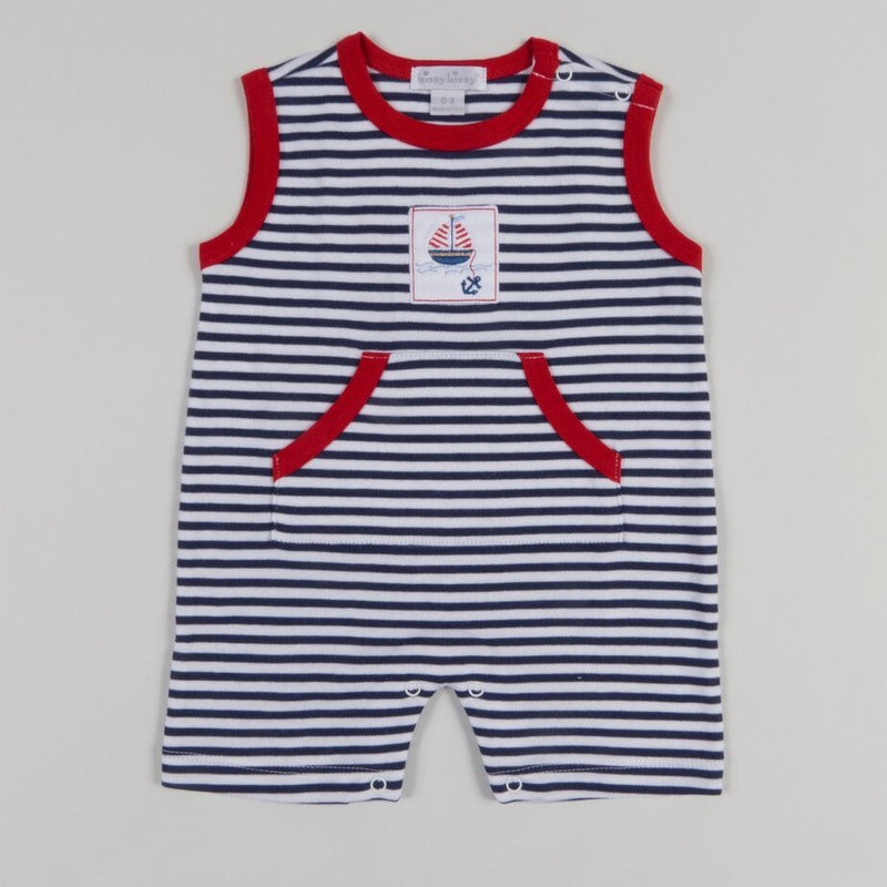 Embroidered Boat Sunsuit