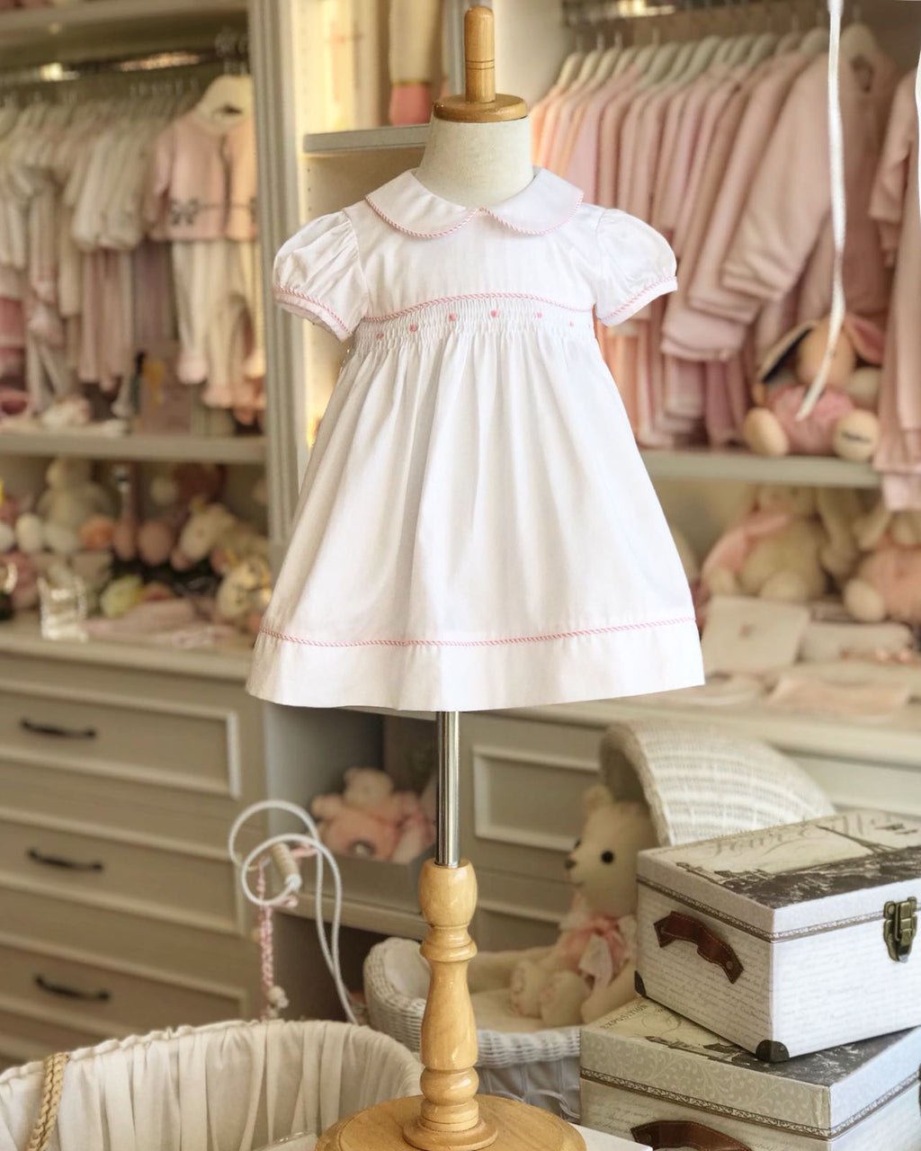 Candy Rose Smocked Dress