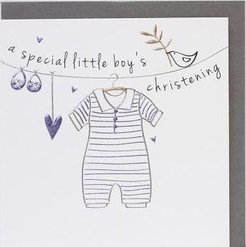 A Special Little Boy's Christening Card