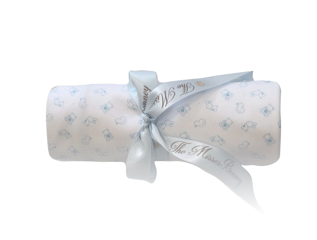 Carousel Light Blue Blanket