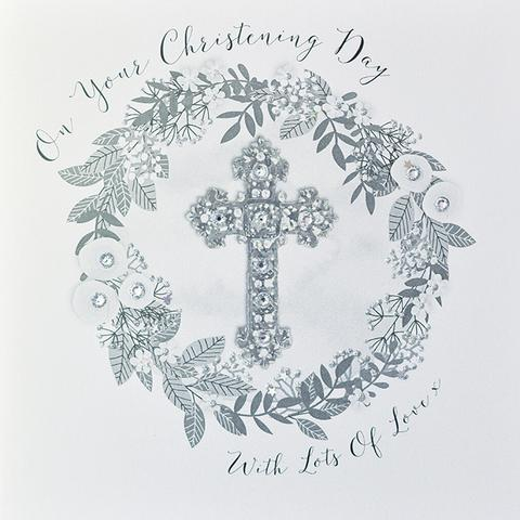 On Your Christening Day With Lots of Love Card