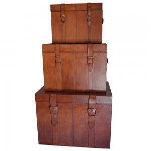 Leather Trunk Small
