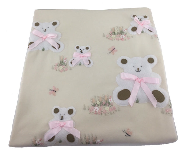 Cot/Bed Blanket Sitting Bears