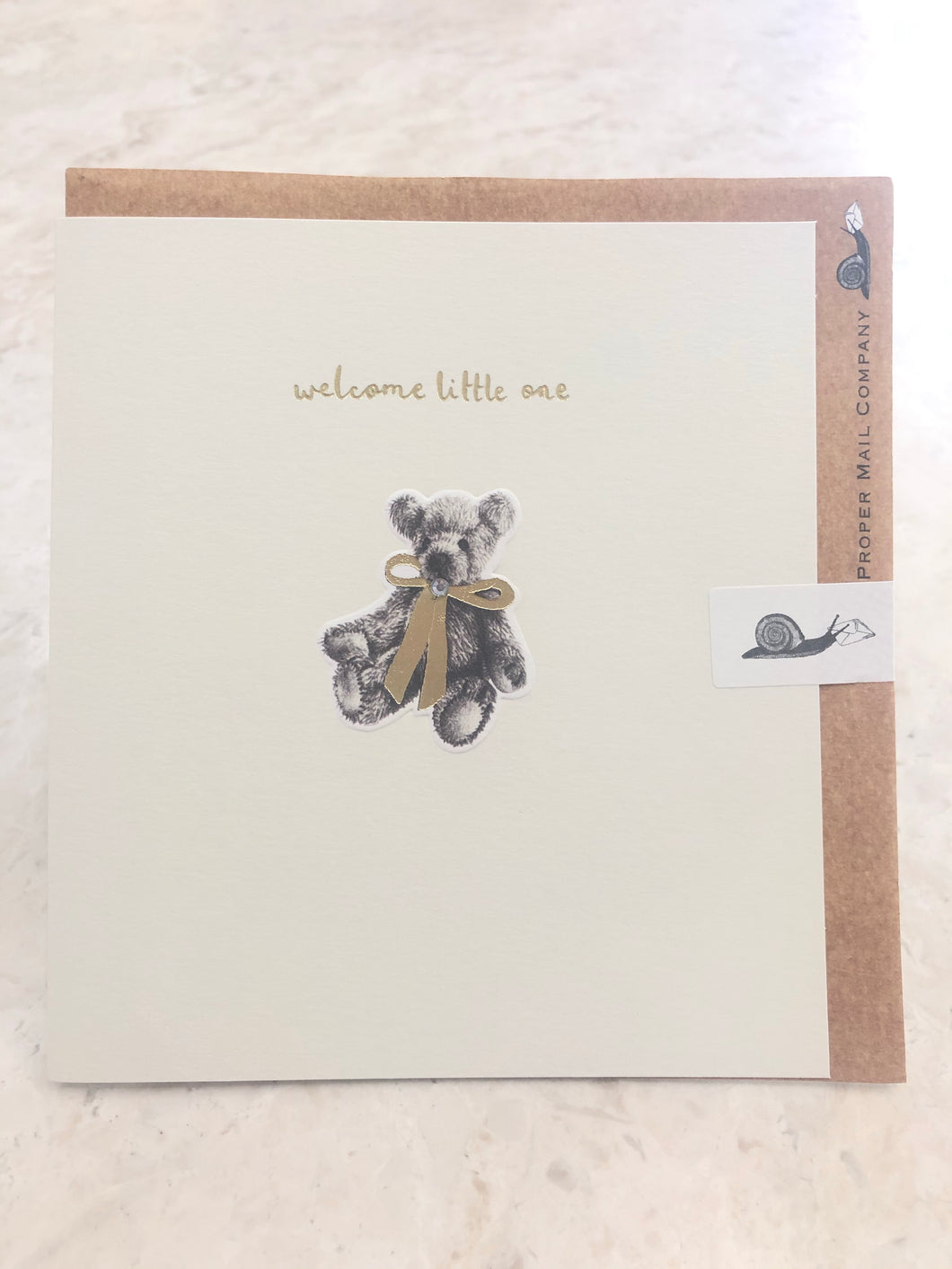 Welcome Little One Bear Card