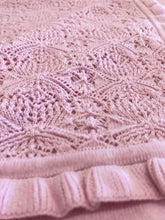 Load image into Gallery viewer, Baby Lace Pink Blanket