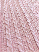 Load image into Gallery viewer, Cable Knit Pink Blanket