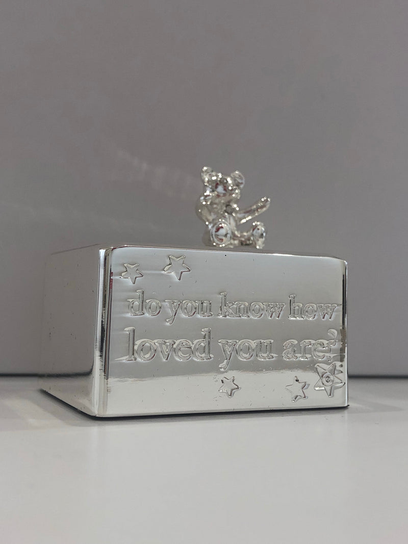 Silver Bear Music Box