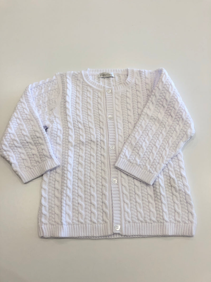 Cable Knit Cardigan White