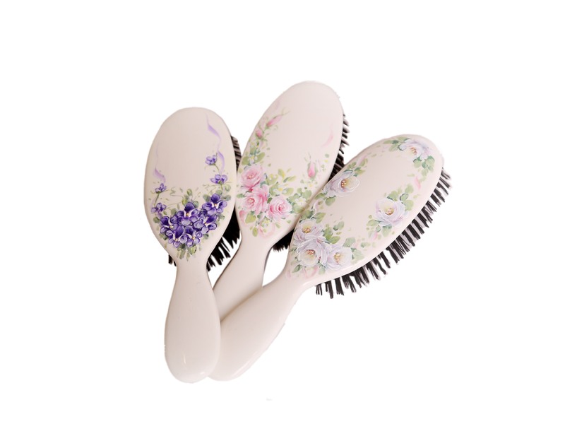 Hand Painted Mason Pearson Toddler Hairbrush