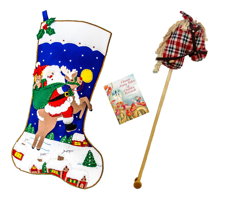 Large Personalised Stocking and Filler- Fairytale Boy