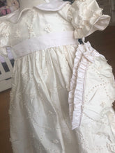 Load image into Gallery viewer, Marie Embroidered Silk Christening Gown