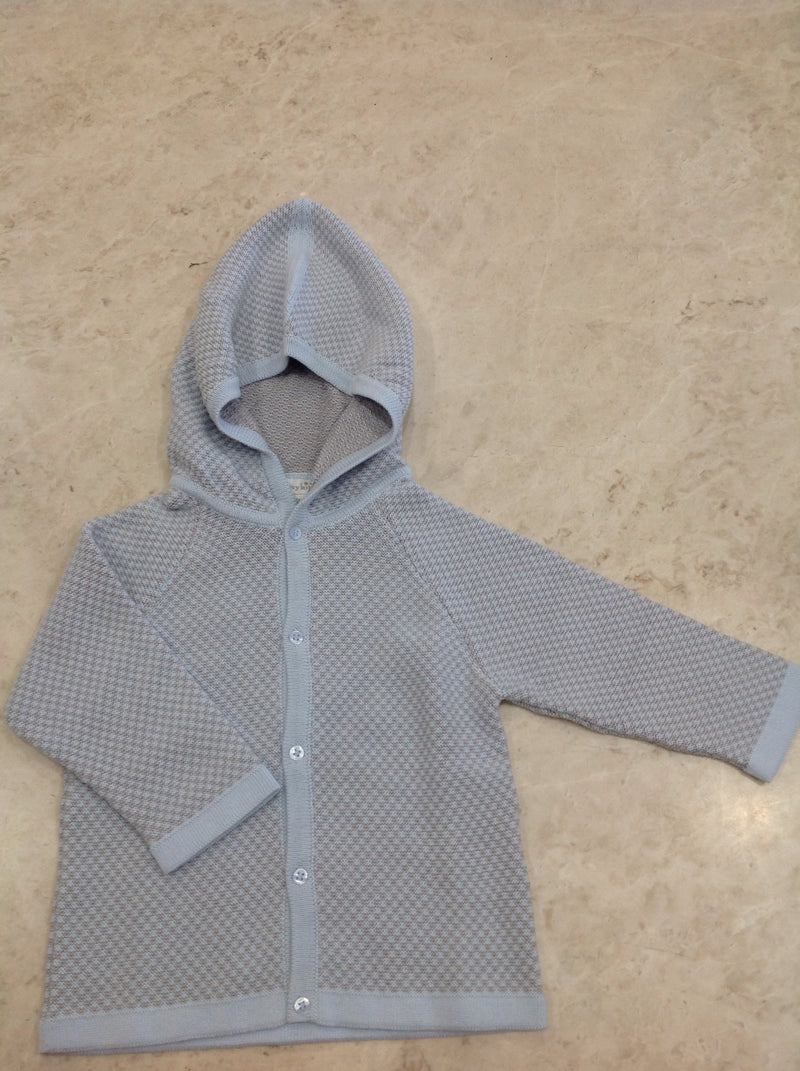 Baby's Knitted Hooded Cardigan