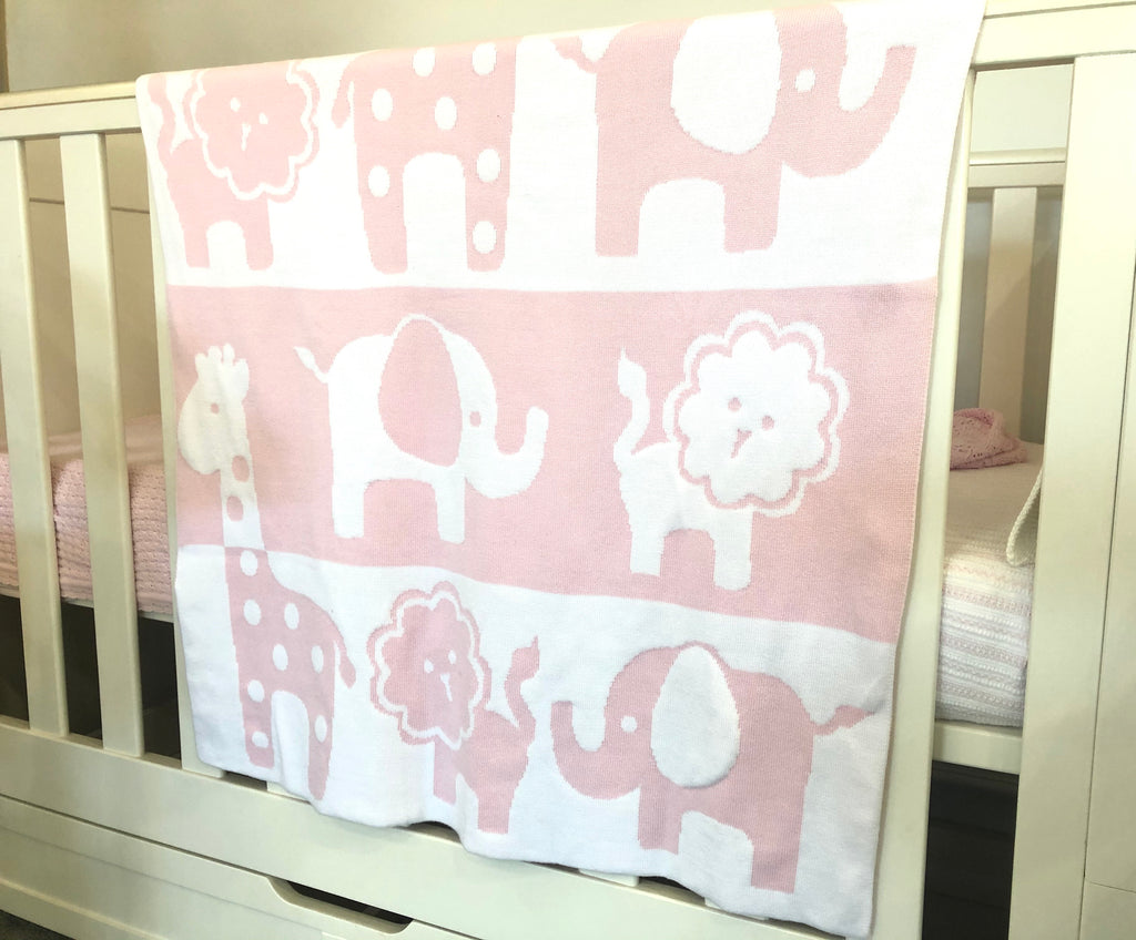 Pink Jungle  Blanket