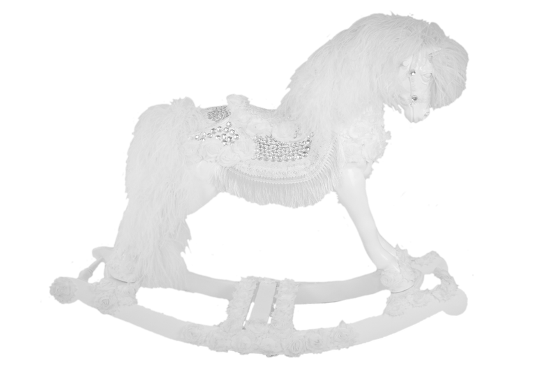 Bella Snow Crystal Rocking Horse