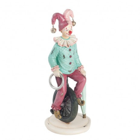 Circus Clown Riding Unicycle