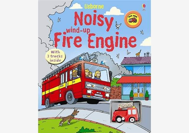 Noisy Fire Engine Wind up Book