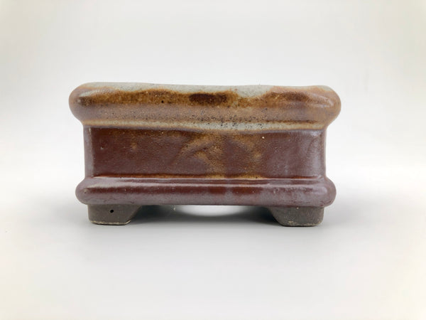 "Mini Bonsai Pot in Piped Rectangle - 3""L x 1 1/2""H"