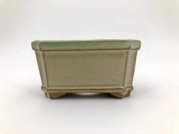 "Mini Bonsai Pot in Beveled Rectangle - 3""L x 1 1/2""H"