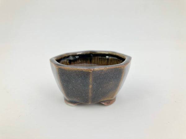 "Mini Bonsai Pot in Round Octagon - 2""D x 1""H"