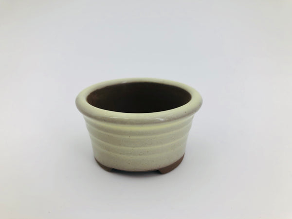 "Mini Bonsai Pot in Flat Round - 2""D x 1""H"