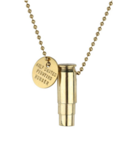 Fighting Hunger Bullet Necklace - All Silver