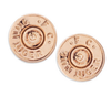 Ali Bullet Top Studs - Rose Gold