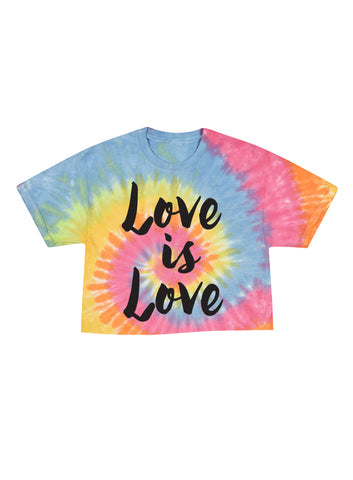 Love is Love Tie Dye Crop
