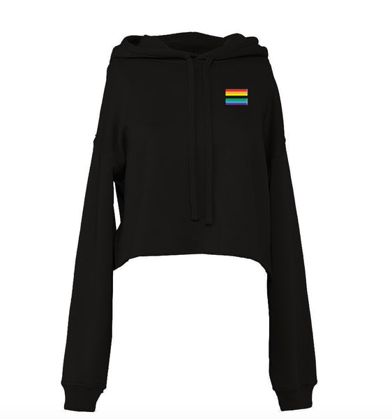 Rainbow Equal Sign Hoody Crop